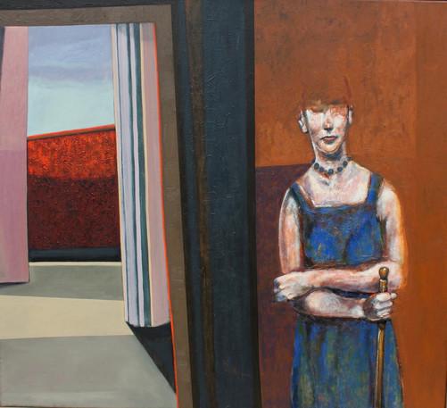 Anónima (2009) - óleo sobre tela 110 x 1