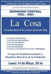 SEMINARIO CENTRAL 2001