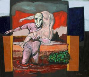 El rapto (2016) - óleo sobre tela 70 x 6