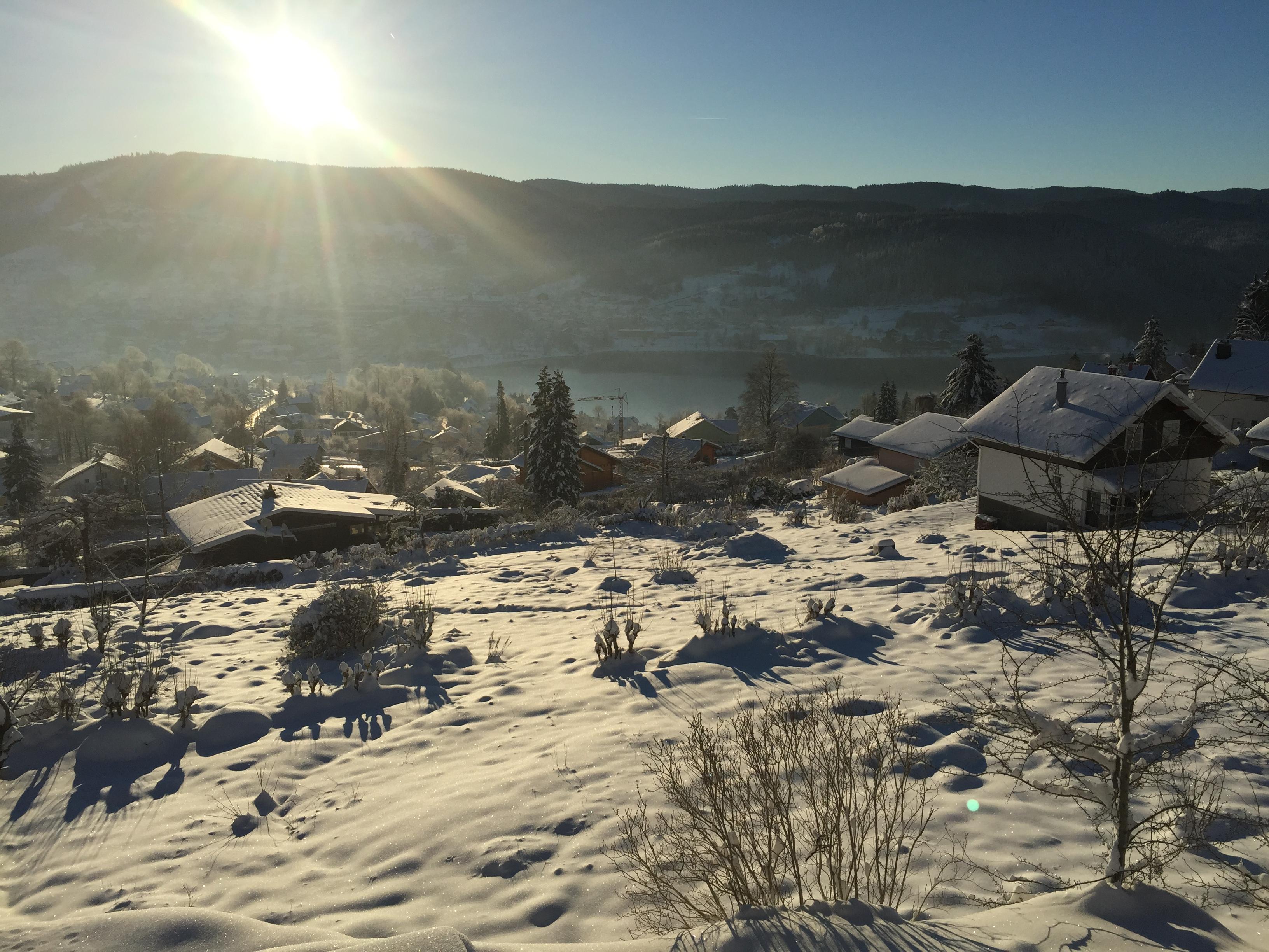 Les Gîtes de l'Alise, neige, soleil