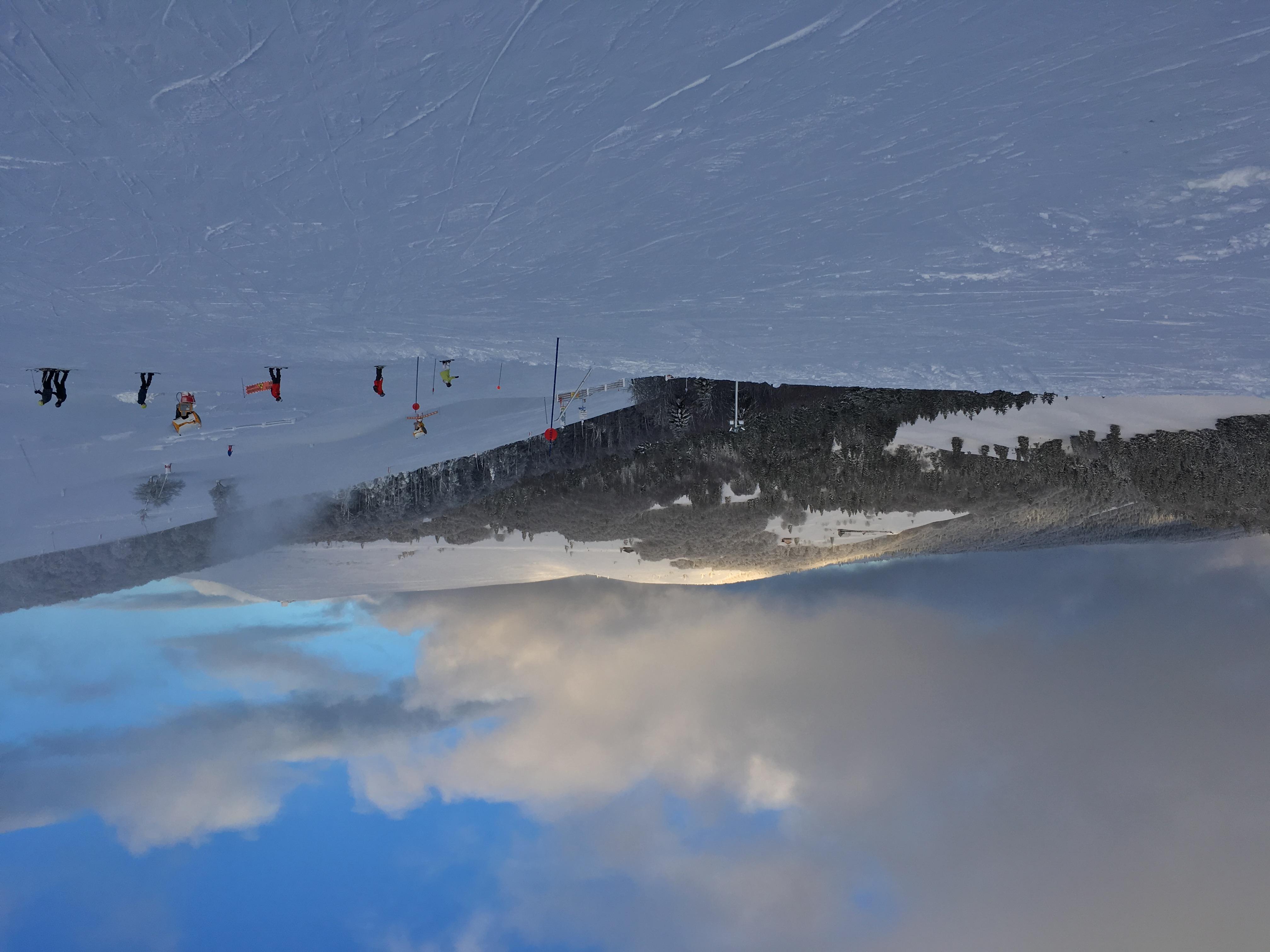 Les crêtes sous la neige