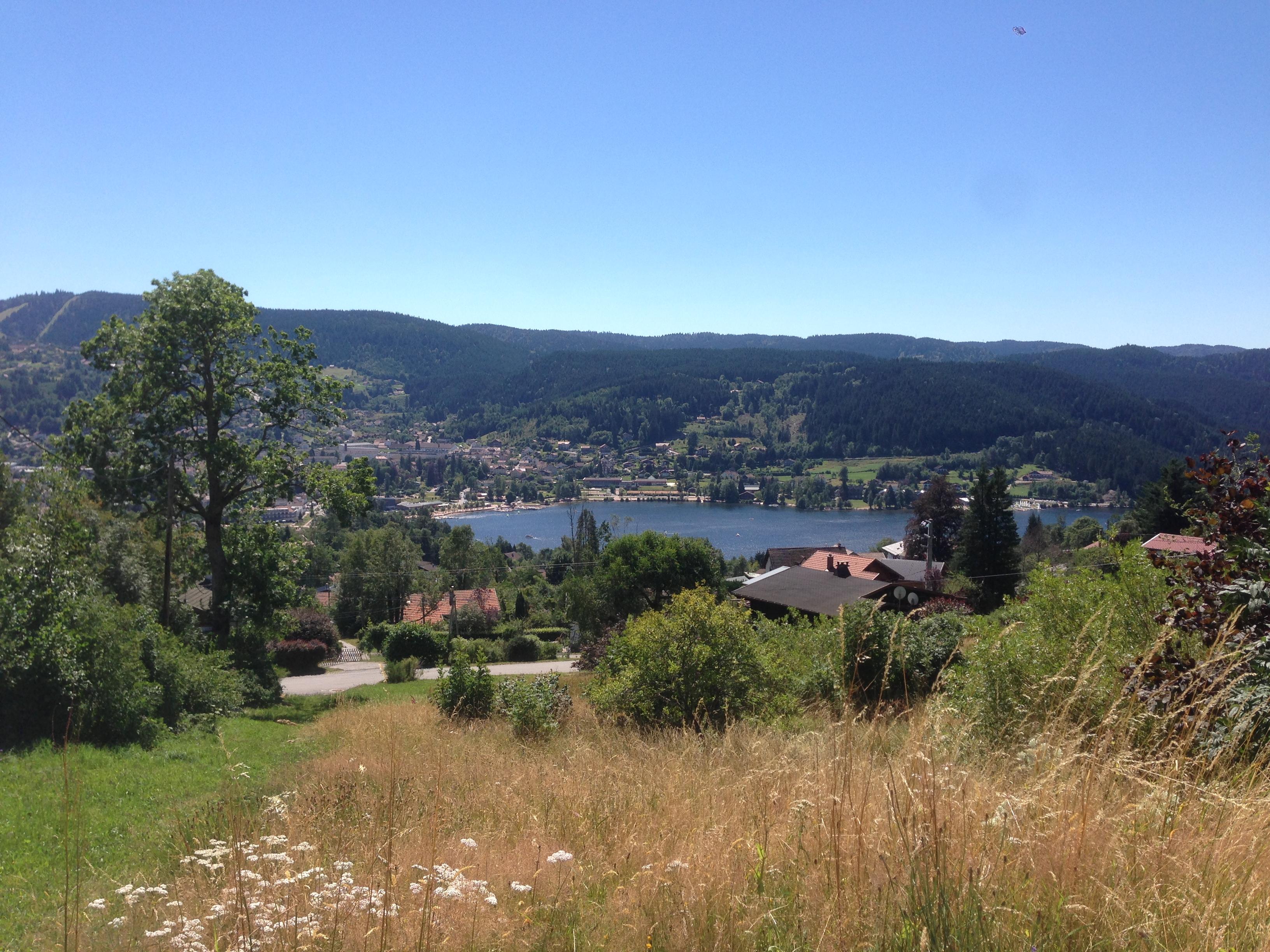 Le lac de Gérardmer vu des Gîtes