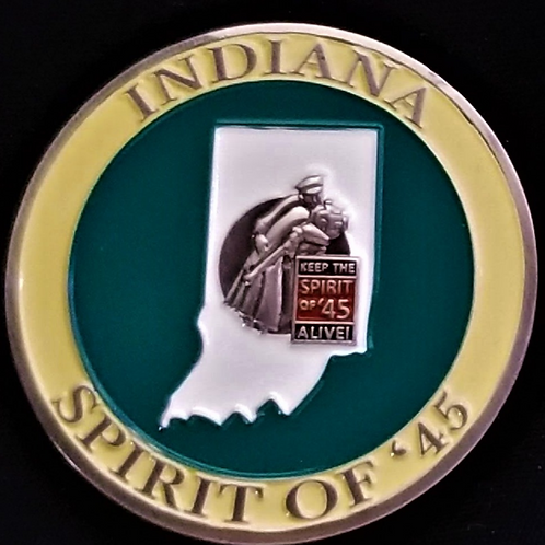 Indiana Spirit of '45 Challenge Coin