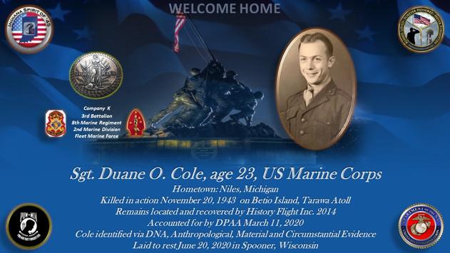 Cole, Duane O.