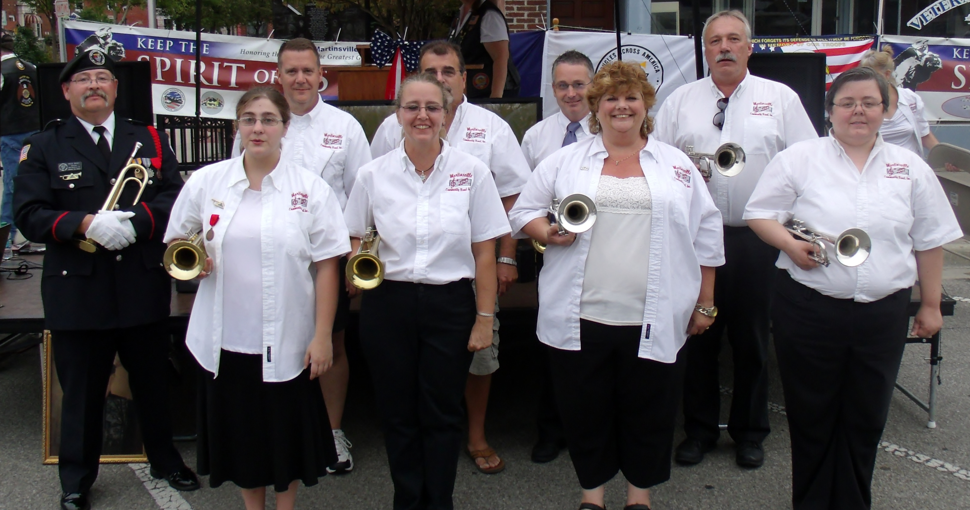 2012 Spirit of '45 Rolling Echo Taps Buglers.JPG