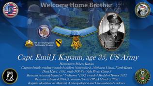 Kapaun, Emil J., Medal of Honor