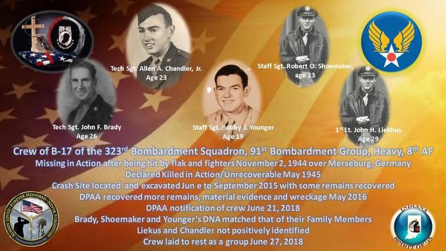 B-17 Crew 323rd Bomb Squadron