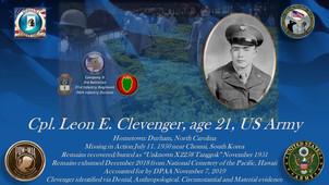 Clevenger, Leon E.