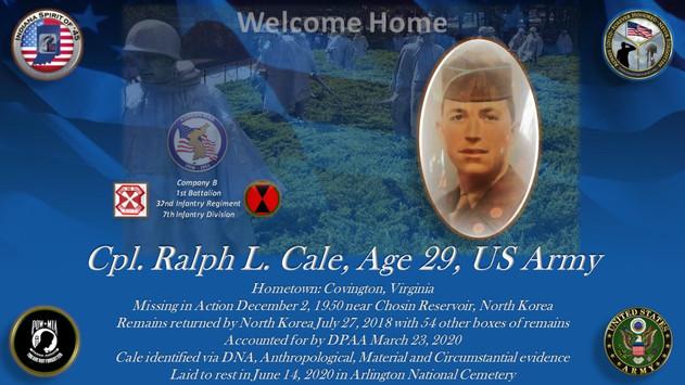 Cale, Ralph L.