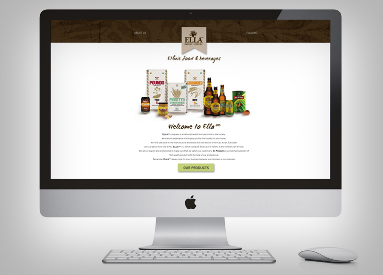 Ella ethnic food - website restyling