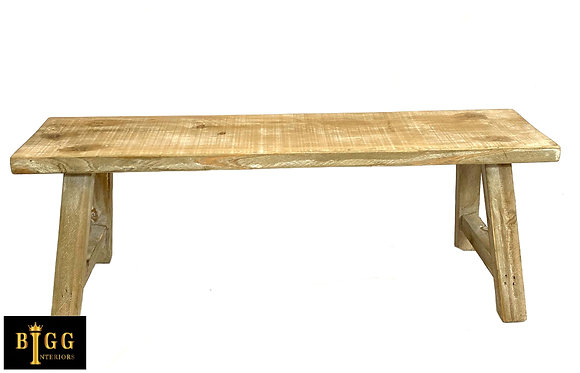 60cm Natural Wood Decorative Bench