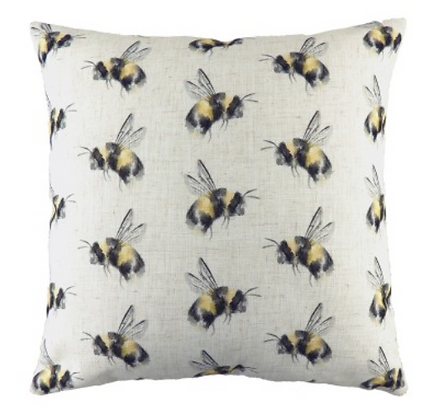 43cm Bee Happy Cushion Filled