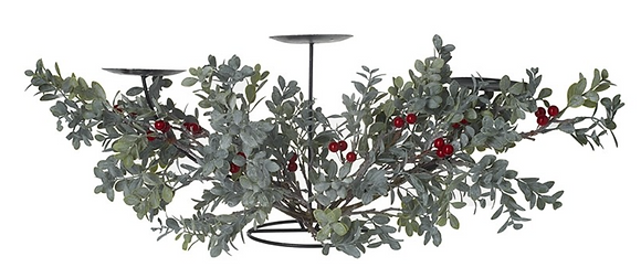 Green Foliage 3 Candle Holder