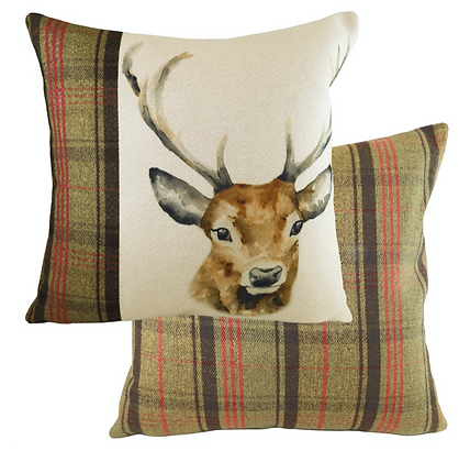 43cm Stag Cushion Filled