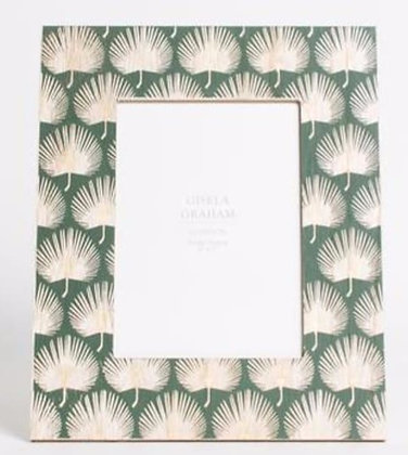 Photo Frame Green With Gold Leaves
