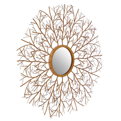 Antique Gold Twig Wall Mirror