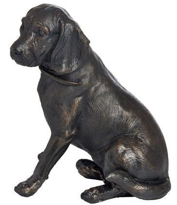 Sitting Spaniel In Antique Bronze