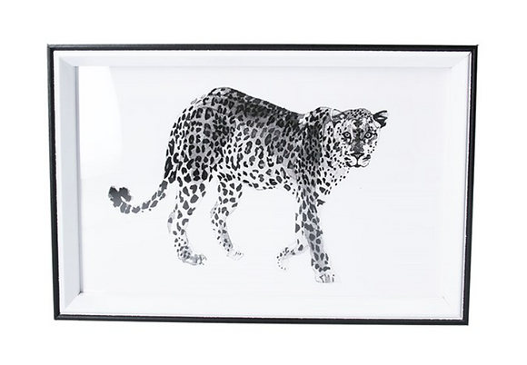 20x30cm Leopard Framed Print