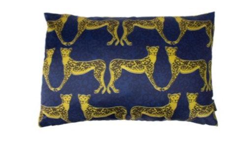60cm x 40cm Blue Lynx Cushion
