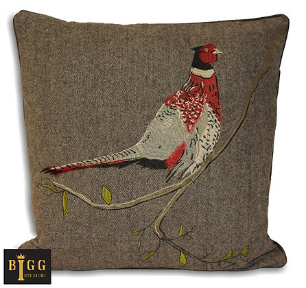 45cm Pheasant Herringbone Cushion