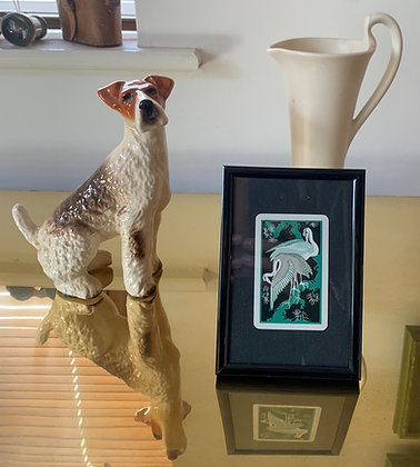 Crane's Green 1920's Playing Card In 6x4 Inch Frame