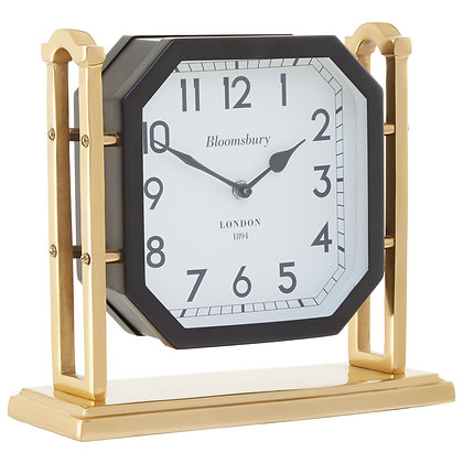 Hampstead Small Black & Gold Mantel Clock