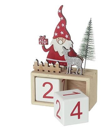 Santa & Silver Deer Countdown
