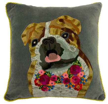 Bulldog Cushion Filled 45x45cm