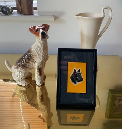 Terrier 1920's Playing Card In 6x4 Inch Frame