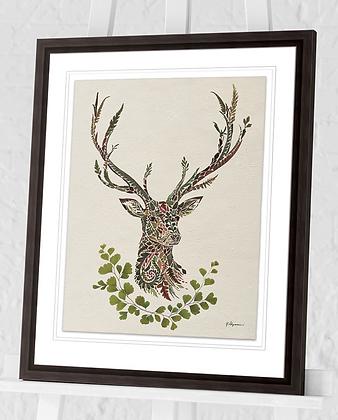 40x50cm  Autumn Stag Framed Print