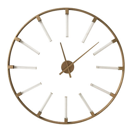 Beauly Gold Metal Round Wall Clock 92cm