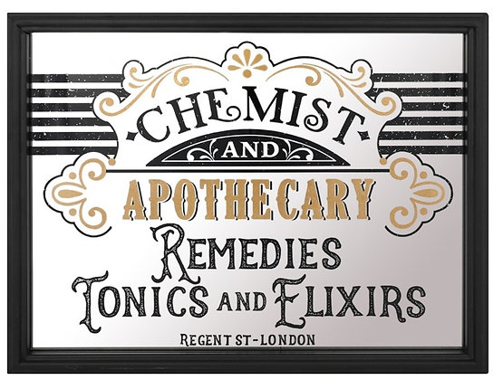 Apothecary Mirrored Wall Art 34x44cm