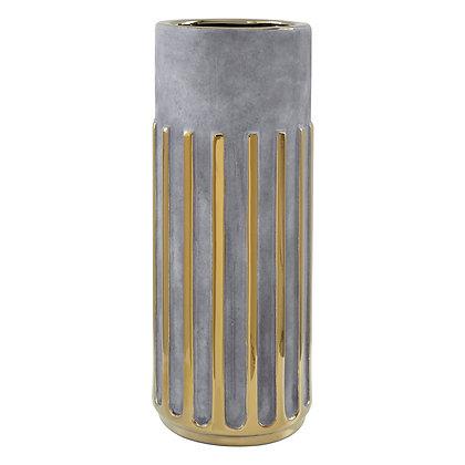Large Grey Gold Vase 35cm
