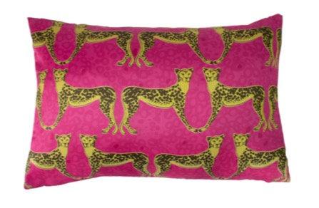 60cm x 40cm Fuchsia Lynx Cushion
