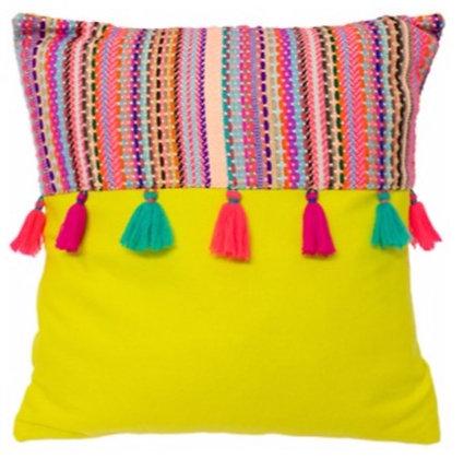 45cm Cuzco Lemon Cushion