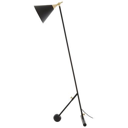 ManoBlack & Gold Floor Lamp 148cm