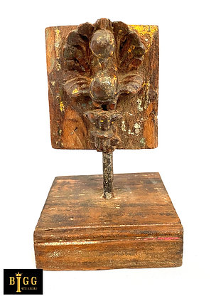 Carved Wooden Todla On Stand