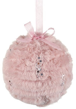 Faux Fur Bauble Pink