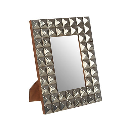 Lexus Silver Finish Pyramid Stud Photo Frame 7x5