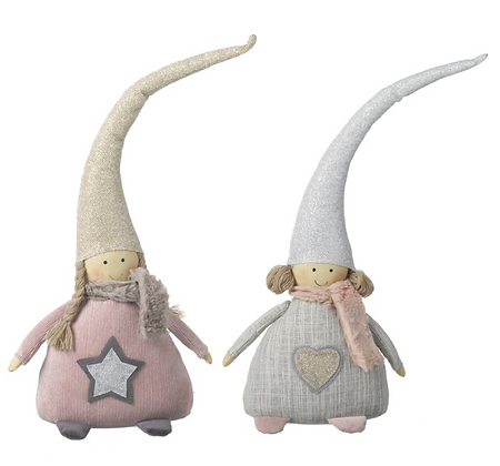 Pink Fabric Fairies With Hats