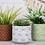 Thumbnail: White/Grey  Geometric Plant Pot