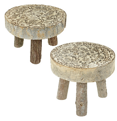 Rustic Set Of Two Stools