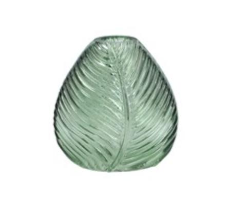 Green Leaf Impression Vase 11cm