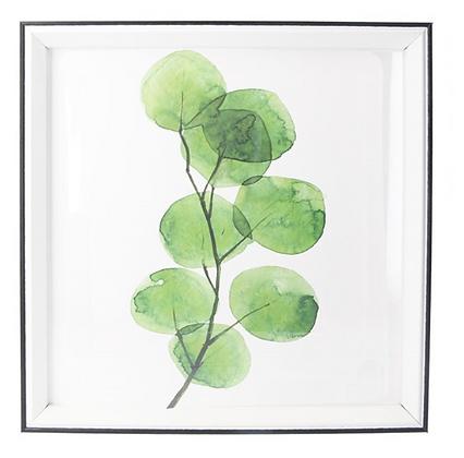 30x30cm Watercolour Branch Framed Print