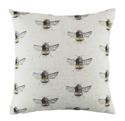 43cm Bee Repeat Cushion Filled