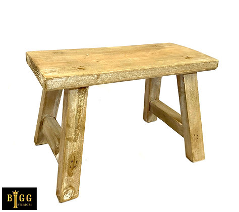 30cm Natural Wood Decorative Bench