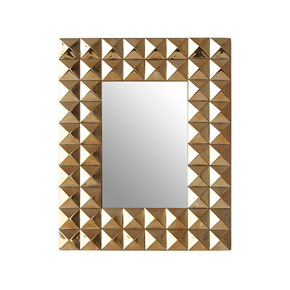 Lexus Gold Finish Pyramid Stud Photo Frame 6x4