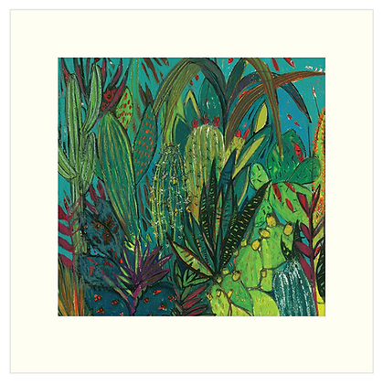 40x40 cm 'Cactus Jungle' Print With Mount