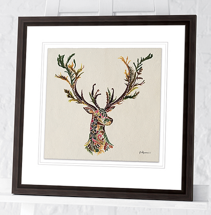 40x40cm  Forest Stag Framed Print