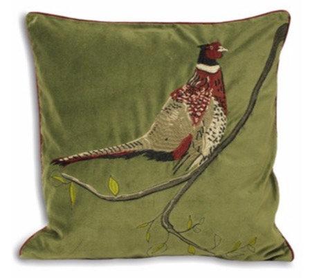 45cm Pheasant Green Cushion